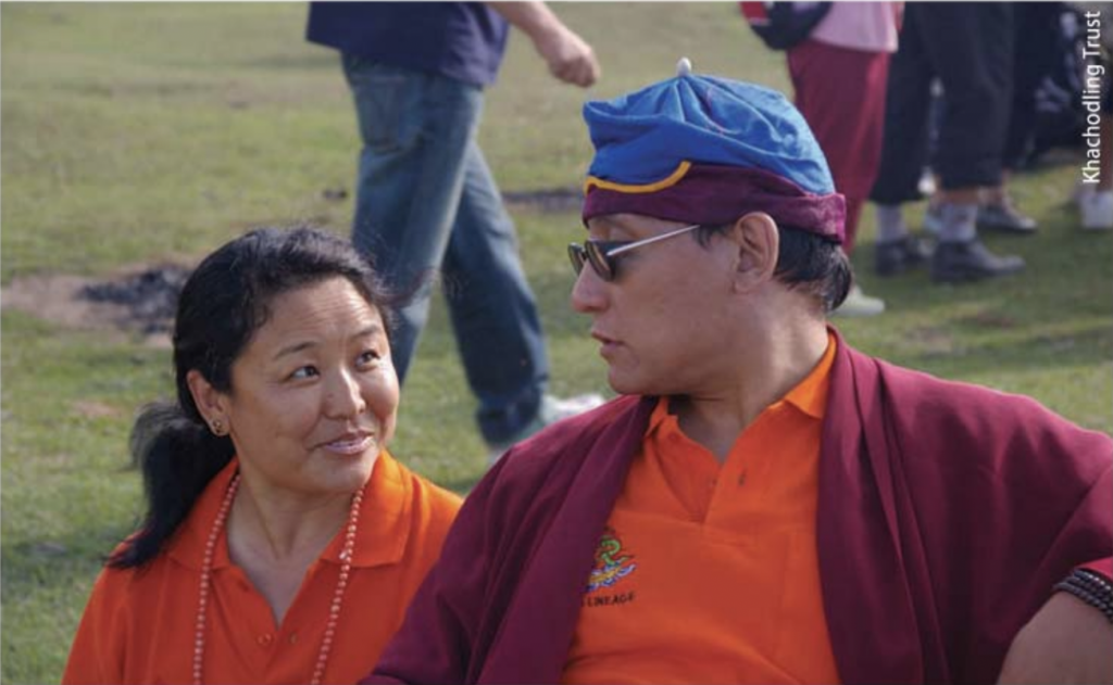 Khandro Thrinlay Chodon with H.H. the 12th Galwang Drukpa