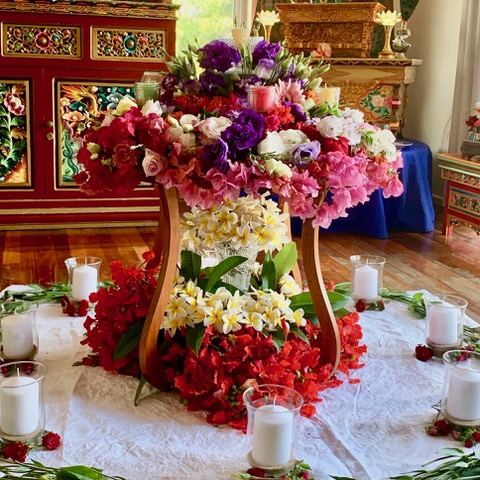 Candlelight and Flower Mandala